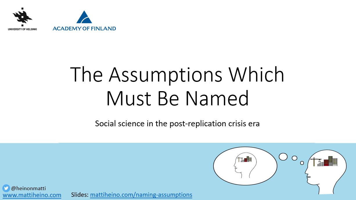 misleading assumptions 1st slide